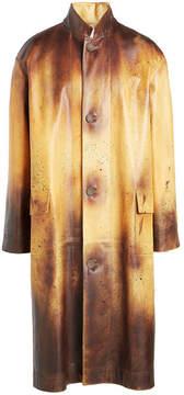Calvin Klein Printed Leather Coat