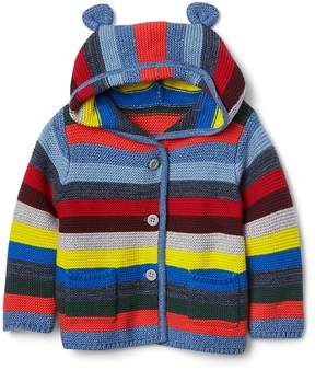 Gap Crazy stripe garter sweater