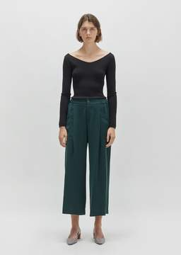 Issey Miyake Stretch Wide Leg Bottom Dark Green