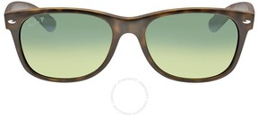 Ray-Ban New Wayfarer Havana Blue-Green 55mm Polarized Sunglasses