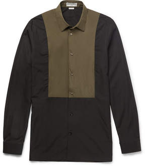 Balenciaga Slim-Fit Shell-Panelled Cotton-Poplin Shirt
