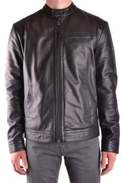 Peuterey Men's Black Leather Outerwear Jacket.
