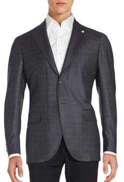 Lubiam Checked Wool Sportcoat