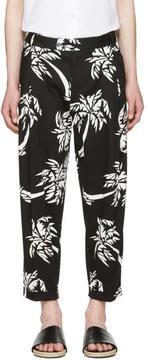 Dolce & Gabbana Black Cropped Palm Trousers