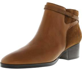 Lauren Ralph Lauren Lauren Ralph Women's Damara-Bo-Csl Leather Suede Polo Tan / Snuff Ankle-High Boot - 9M