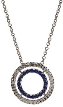 Bony Levy 18K White Gold Sapphire & Diamond Circle Pendant Necklace - 0.30 ctw
