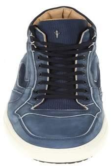 Cesare Paciotti Men's Blue Rubber Hi Top Sneakers.