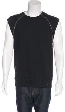 Pierre Balmain Zip-Accented Sleeveless Sweatshirt