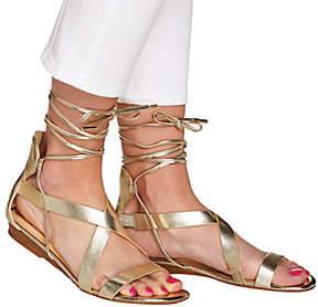 C. Wonder Lace-up Leather Gladiator Sandals - Lyla