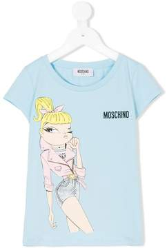 Moschino Kids girl print T-shirt