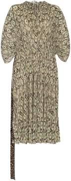 Balenciaga dollar print double kaftan silk dress