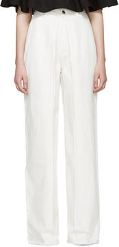 Aalto White Front Pleat Jeans