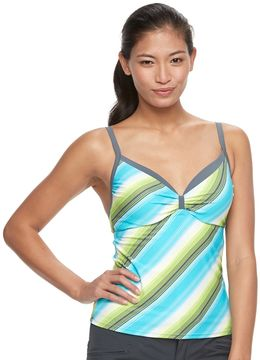 Free Country Women's Striped Underwire Tankini Top