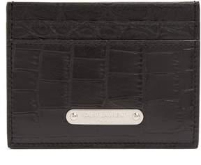 Saint Laurent Crocodile-effect leather cardholder