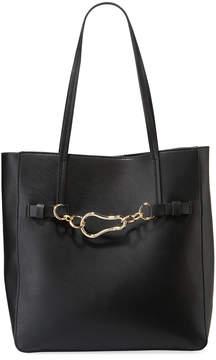 Neiman Marcus Carabiner Shoulder Tote Bag