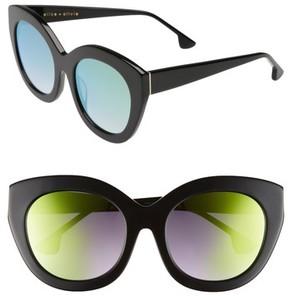 Alice + Olivia Women's Walker 54Mm Cat Eye Sunglasses - Black