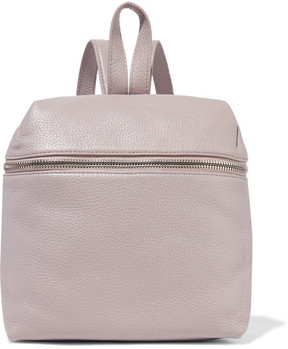 KARA - Small Textured-leather Backpack - Lilac
