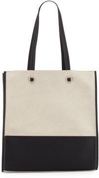 Danielle Nicole Cove Pebbled Faux-Leather Tote Bag, Beige/Black