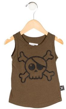 Nununu Boys' Skull Print Sleeveless Shirt