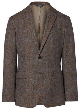 Banana Republic Standard Brown Plaid Italian Wool Suit Jacket