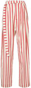 CHRISTOPHER ESBER striped multi-tuck pants