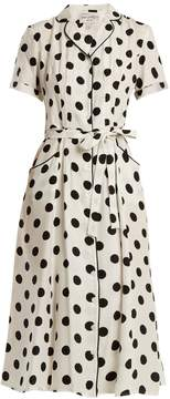 DAY Birger et Mikkelsen HVN Maria large polka-dot print silk dress