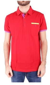 Trussardi Men's Red Cotton Polo Shirt.