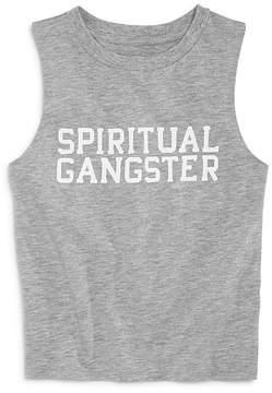 Spiritual Gangster Girls' Logo Varsity Muscle Tank - Big Kid, Little Kid