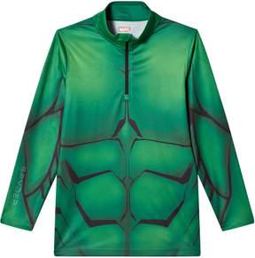 Spyder Green Hulk Marvel T-Neck 1/4 Zip Mid Layer