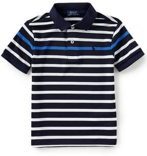 Ralph Lauren Little Boys 2T-7 Short-Sleeve Striped Tech Mesh Polo Shirt