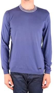 Armani Collezioni Men's Mcbi024256o Purple Cotton Sweater.