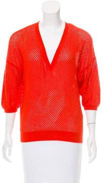 Allude Cashmere Open Knit Sweater