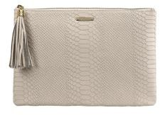 GiGi New York Personalized Uber Python-Embossed Leather Clutch