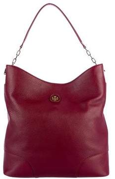 Tory Burch Pebbled Leather Hobo - PURPLE - STYLE
