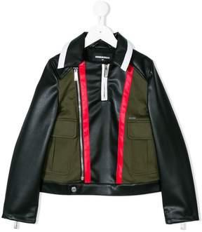 DSQUARED2 colour block bomber jacket