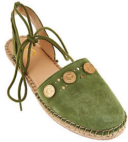 C. Wonder As Is Suede Espadrilles w/ Coin Detail - Michaela