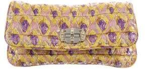 Miu Miu Embellished Jacquard Clutch