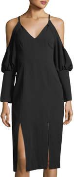 C/Meo Blouson-Sleeve Creep Dress