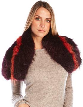 Yves Salomon Real Raccoon Fur Stole