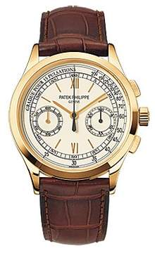 Patek Philippe Complications Chronograph Opaline White Dial Men's Watch
