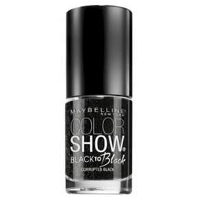 Maybelline Color Show Black To Black Nail Polish, 709, Corrupted Black.