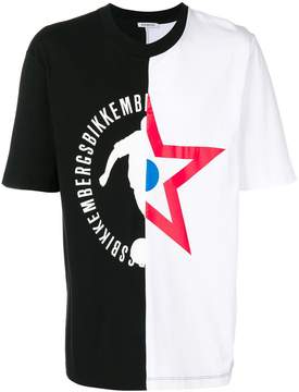 Dirk Bikkembergs asymmetric print T-shirt