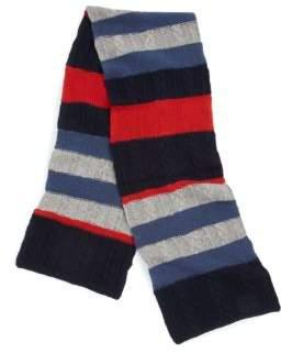 Portolano Striped Wool Scarf