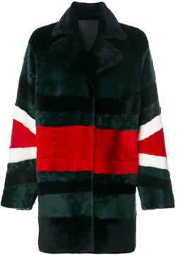 Drome stripe detail coat