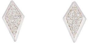 Ef Collection 14K Pavé Diamond Stud Earrings