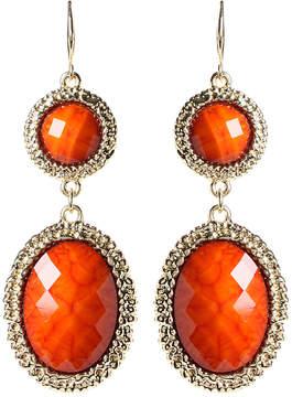Amrita Singh Coral & Goldtone Gabby Drop Earrings