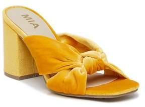 Mia Sonny Velvet Block Heel Sandal