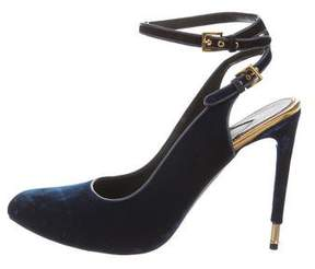 Tom Ford Velvet Round-Toe Pumps