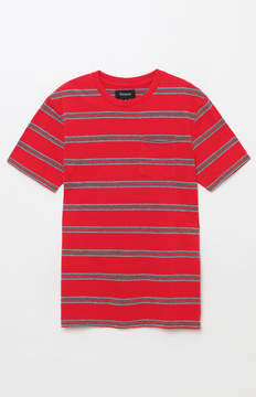 Brixton Hilt Washed Striped Red Pocket T-Shirt