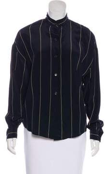 Ellen Tracy Linda Allard Striped Silk Top